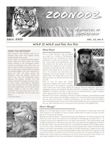 FALL 2012 Wild Is Wild and Pets Are Pets - Associated Humane ...