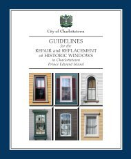 GUIDELINES - City of Charlottetown