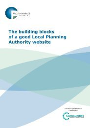 The building blocks of a good Local Planning ... - Planning Portal