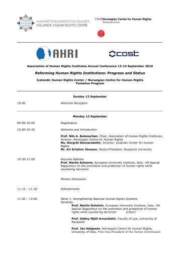 Reforming Human Rights Institutions: Progress and Status