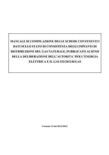 manuale di istruzione - Autorità per l'energia elettrica e il gas