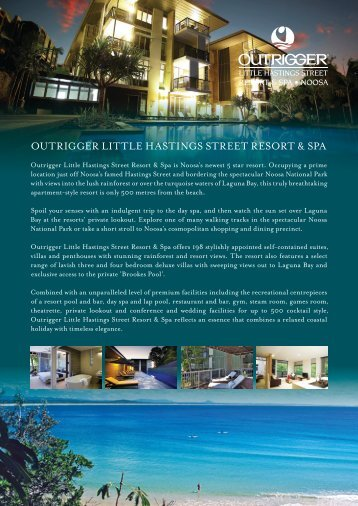 Outrigger Accommodation Fact Sheet (PDF, 854KB)