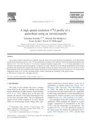 A high spatial resolution d O profile of a speleothem using an ion ...