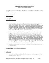 Page 1 Dripping Springs Community Library District June 19, 2013 ...