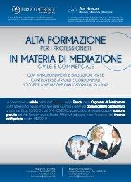alta formazione in materia di mediazione - Euroconference e Centro ...
