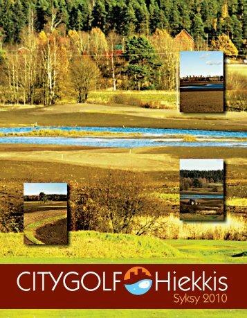 City Golf Hiekkis syksy 2010