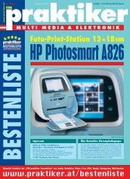 HP Photosmart A826: Foto-Print-Station ... - HOME praktiker.at