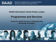 DAAD - Programmme and Services.pdf - Forum for Urban Future in ...