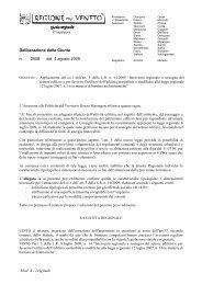 Deliberazione Giunta Regionale 4 agosto 2009, n.2508 - Itaca