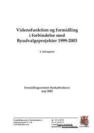 Udkast til disposition for Vidensfunktions-rapport - Socialstyrelsen
