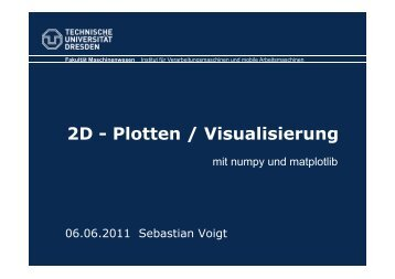 2D - Plotten / Visualisierung