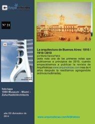 e-AN N° 21 nota N° 7 La arquitectura de Buenos Aires: 1810 / 1910 / 2010 por Marta Garcia Falcó
