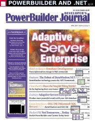 POWERBUILDER AND .NETpg.10 - sys-con.com's archive of ...