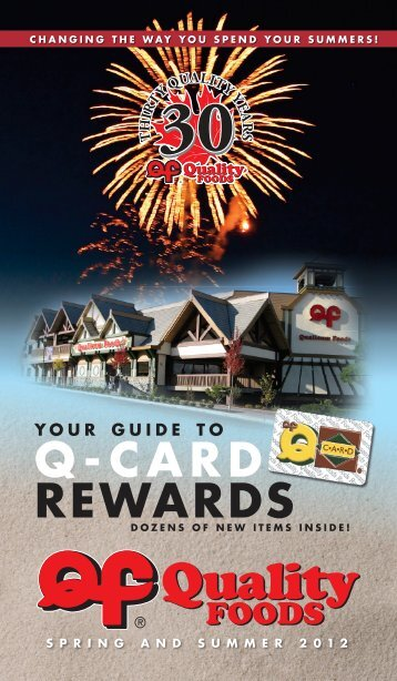 your guide to q-card rewards - Quality Foods