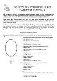 Rosenkranzgebet Prb - Pfarre Pressbaum