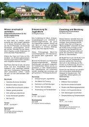 Coaching und Beratung - Akademie Gesundes Leben