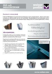 Folder hus- och industriteknikPDF, 806,31 kB - Welser Profile AG