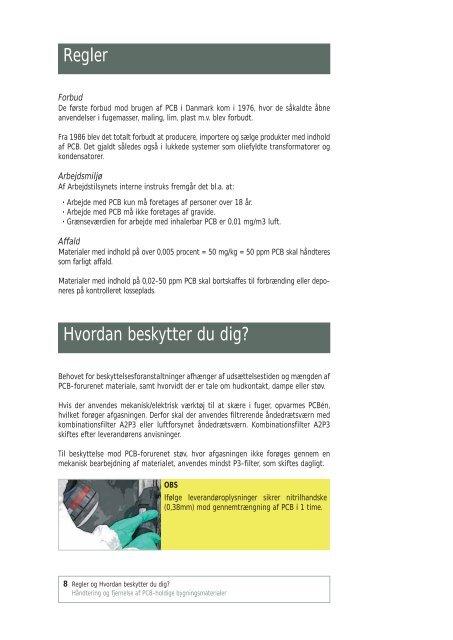 Hent HÃ¥ndtering og fjernelse af PCB-holdige bygningsmaterialer