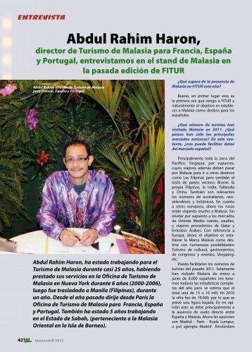 Abdul Rahim Haron, - TAT Revista