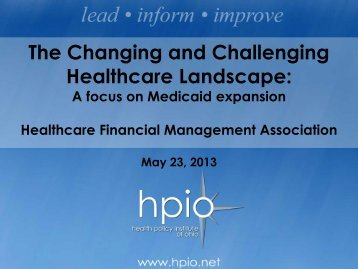 HFMA May 23, 2013 - Healthcare Financial Management ...