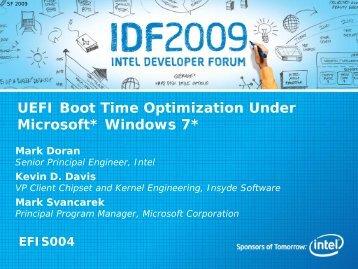 UEFI Boot time optimization under Windows 7 - Intel