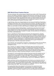 World Press Freedom Review 2003.rtf - Egunkaria