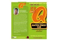 FLYER DOWNLOAD - Quatsch Comedy Club