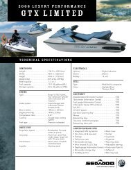 GTX Limited 05 Specs - Sea-Doo net