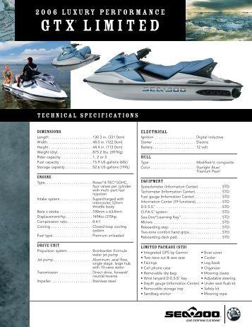 GTX Limited 05 Specs - Sea-Doo.net
