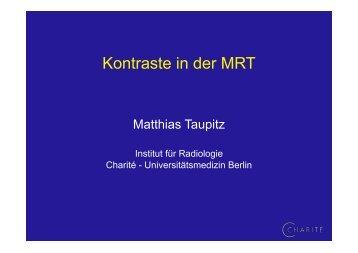Kontraste in der MRT