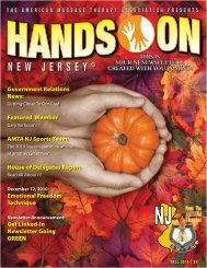 Fall - Issue 3 - American Massage Therapy Association New Jersey ...