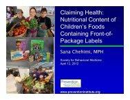 Claiming Health - Society of Behavioral Medicine