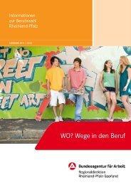 WO? Wege in den Beruf - in Rheinland-Pfalz