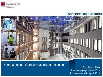 Wir entwickeln Zukunft Dr. Ulrich Link - in Rheinland-Pfalz