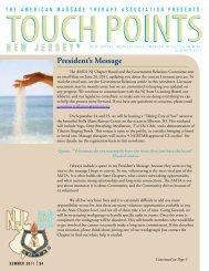 Summer - Issue 2 - American Massage Therapy Association