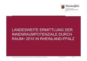 landesweite ermittlung der innenraumpotenziale durch raum+ 2010 ...