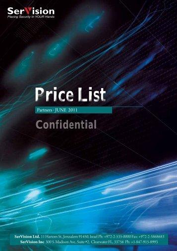 Price List - SerVision