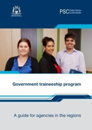 A guide for agencies in the regions Government traineeship program