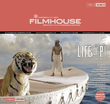 07 Dec - 10 Jan - Filmhouse Cinema Edinburgh