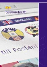 Verksamhetsberättelse 2004 - Posten Åland
