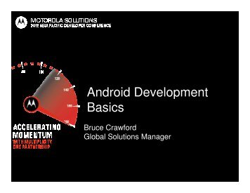 Android Development Basics - Motorola Solutions LaunchPad ...