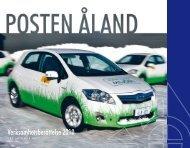 Verksamhetsberättelse 2010 - Posten Åland