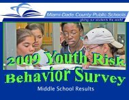 Middle School Results - Office of Program Evaluation - Miami-Dade ...