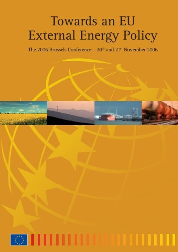 Towards an EU External Energy Policy – The 2006 Brussels ...