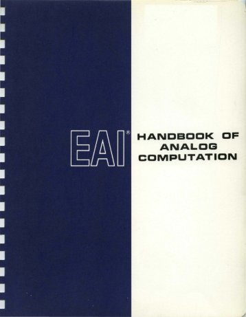HANDBOOK OF ANALOG COMPUTATION - Al Kossow's Bitsavers