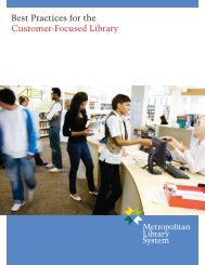 Best Practices for the Customer-Focused Library - Metropolitan ...