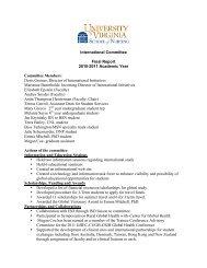2010-2011 International Committee Annual Report - School of Nursing