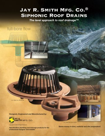 Brochure Siphonic Roof Drains - Jay R. Smith MFG Co.