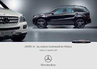 EDITION 10 – das exklusive Sondermodell der M ... - Mercedes Benz