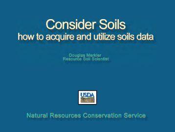 Consider Soils